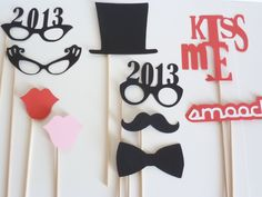 New Year Eve Photobooth Prop - Photo Booth - Photo Booth Prop - Wedding Prop - 2013 New Years Eve. $25.00, via Etsy.