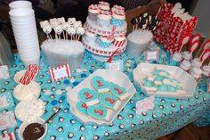 Sweets Table.  Love the polar bear cake pops, hot chocolate bar, mitten cookies