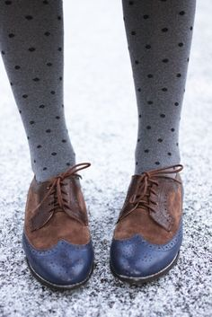 polka dot tights and oxfords: my favorite school-day combo
