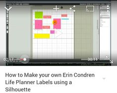 How to Make your own Erin Condren Life Planner Labels using a Silhouette
