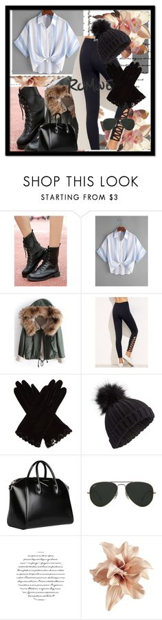 """Romwe II/13"" by anidahadzic ❤ liked on Polyvore featuring AGNELLE, Miss Selfridge, Givenchy, Ray-Ban and H&M"