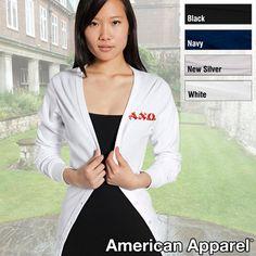 Alpha Chi Omega Embroidered Cardigan $28.99 #Greek #Sorority #Clothing #AChiO #AlphaChiOmega
