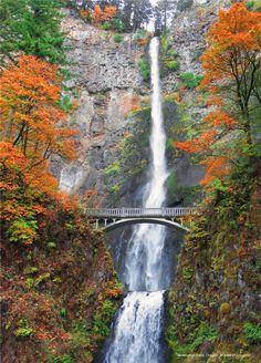 Cataratas Multnomah en Oregon, EEUU