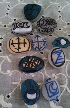 Creating an altar P21 Runes In a similar way to placing Tarot cards upon your altar you can choose to place some Runes upon it. Since ancient times, Runes have been used for divination and Magic and acted as an ancient alphabet. Runic symbols can be carved or scorched upon any natural material including wood, stone or even crystals.
