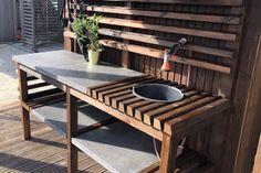Wood Furniture, Outdoor Furniture Sets, Outdoor Tables, Outdoor Decor, Patio, Backyard Ideas, Garden Ideas, Interior, Diy Wood
