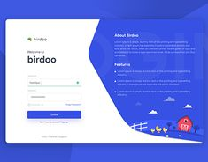UI Birdoo Desktop Login Get An Attractive Lawn In Just A Couple Of Hours A Week Time-strapped homeow Form Design Web, Login Page Design, Ui Design, Design Model, Layout Design, App Login, Login Form, Login Website, Website Template