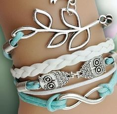 Turquoise is a great color and I love owls #FunBracelets