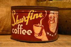 vintage coffee tin candle - jackson of all trades