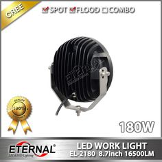 180W round LED driving light spot work light high power with anti-vibration brackets for heavy duty equipment   construction vehicles excavator mining marine farming equipment tractor harvester mover windrower agriculture   truck loader balers shovel Johndeere machinery, this series with 70W EL-2702, 90W EL-2901, 120W EL-2120, 180W   EL-2180