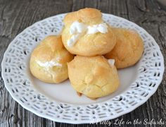 Mmmmm Cream Puffs – – – – – – – – – – I have an idea that involves these little treats, and I can't wait to share it with you! But first, I'll share the basic recipe… and stay tuned for a fun and scrumptious little twist to the cream puff! – – – – – – – – – – – – – – – – – – – – Now, don't be afraid to make these…I have always wanted to make cream puffs, but was afraid to. Why?  I'm not sure.  They are surprisingly so easy! – – – – – – – – – – And I know this seems kind of weird to say, but…