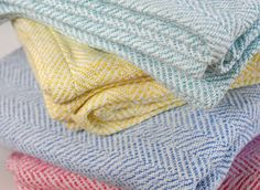 Brahms Mount crafts premium cotton, linen and wool blankets, throws and towels on antique shuttle looms in Maine, USA Full Size Blanket, Cotton Baby Blankets, Wool Blanket, American Made, Woven Fabric, Herringbone, Weaving, Textiles, Pure Products