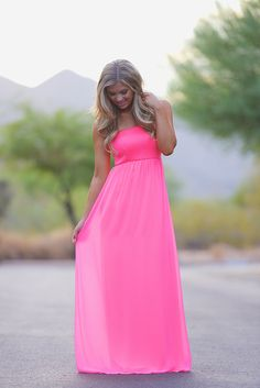 Before Anyone Else Maxi Dress - Neon Pink from Closet Candy Boutique