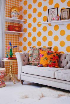 Room Seven behang Dots - yellow