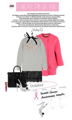 """Set # 609 / I wear pink for Breast Cancer Awareness"" by vassiliki-g ❤ liked on Polyvore featuring Marni, Clu, Yves Saint Laurent, ASOS, Origins, Pink, CasualChic and IWearPinkFor"