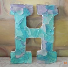 Sea glass letters - by Sheer Serendipity on Etsy