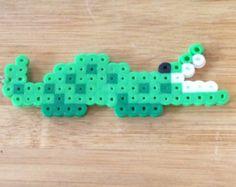 Alligator Perler Bead Keychain