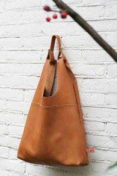 Van Veer Shopper Camel Leather Bag
