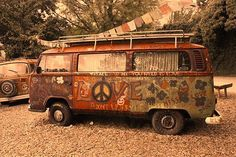 old VW hippie van