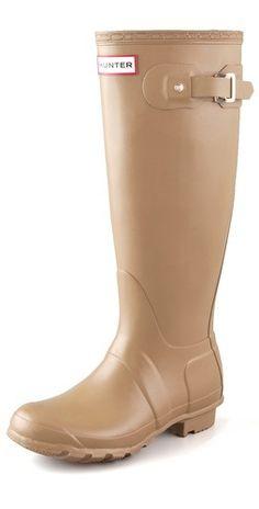 Original Hunter Wellington rain boots.