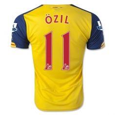 14-15 Arsenal Football Shirt Cheap Ozil #11 Away Yellow Replica Jersey [A344]