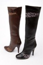 Animal Print Trimmed Boot