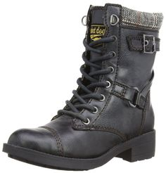 Rocket Dog Thunder Black New Womens Lace Up Army Biker Boots london town
