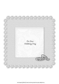this is an insert with a wedding rings which can be used with my wedding/anniversary card front