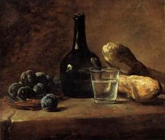 """Still Life with Plums"" (circa 1730), by Jean-Siméon Chardin."