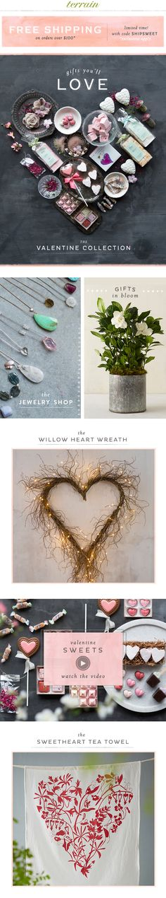 Our gifts from the heart are here for #ValentinesDay at #shopterrain January 20