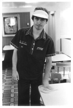 Remember these 80's style McDonalds worker uniforms and those stupid hard plastic swivel chairs they had?