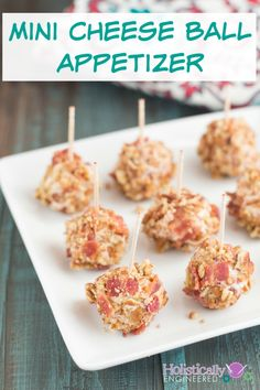 Low Carb Mini Cheese Ball Appetizer #grainfree