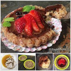 Tartaleta saludable con solo 3 ingredientes!! Receta en www.sweetfran.com