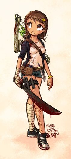 Emeri the ZOMBIE HUNTER by *Knockwurst. And my mom always hated the fact that I wanted a machete for my birthday...