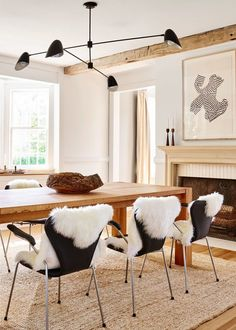 a modern neutral dining room with tons of texture | house tour via coco kelley