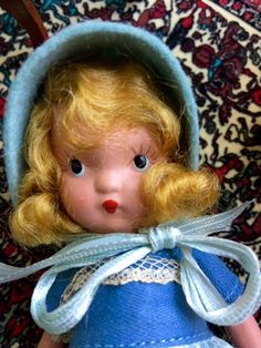 Vintage Nancy Ann Storybook Doll  Lucy Locket  Number by Jewelmoon