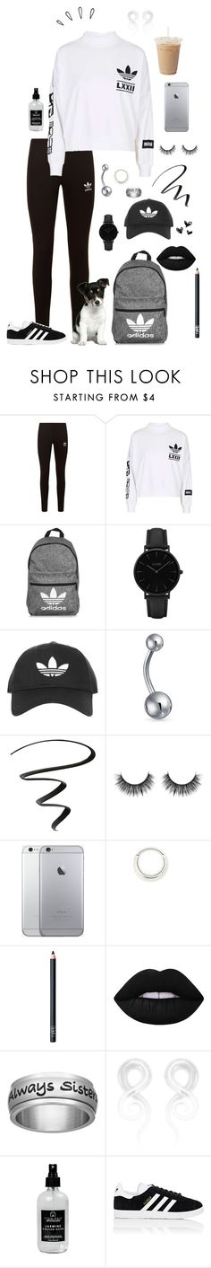 """Shaded addias"" by sickiplier ❤ liked on Polyvore featuring adidas Originals, adidas, CLUSE, Topshop, Bling Jewelry, NYX, Maria Tash, NARS Cosmetics, Lime Crime and Old Navy"