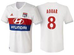 73924235e Olympique Lyonnais houssem aouar 17-18 Home jersey Football Equipment