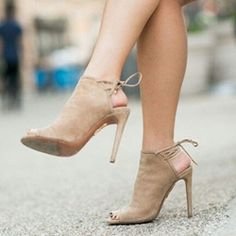 Nude Open Toe Backless Stiletto Heels  US 11.5 | EU 42.5 | UK 8.5 | CN 45   Women large size shoes