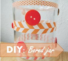 When you're bored, and you have no idea what to do, then go make this DIY Bored Jar! You put some ideas in them and when you're bored, you pick one and do that! | Glitteress DIY blog