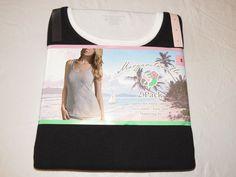 Margaritaville Womens Juniors tglss Tank Tops 2 pack shirt S 4-6 white & black*^ #Margaritaville #tanktop