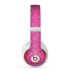 The Pink Sparkly Glitter Ultra Metallic Skin for the Beats by Dre Studio (2013+ Version) Headphones, http://www.amazon.com/dp/B00MWJ4LFC/ref=cm_sw_r_pi_awdm_QlwCub03H3MAN