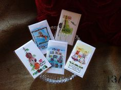"""""""Minis"""" - Chique Lixo cards - embellished with bling, individually packaged and mini-sized! 4 x 21/4 inches - great for gifts, wine, chocolate...."""