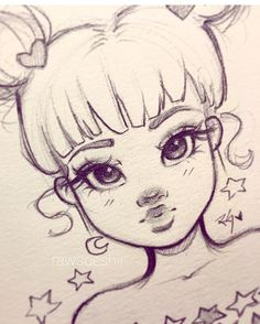 L& peut contenir: Dessin - - - Anime Zeichnung - Girl Drawing Sketches, Illustration Art Drawing, Art Drawings Sketches Simple, Pencil Art Drawings, Cartoon Drawings, Cute Drawings, Artwork Drawings, Drawing Art, Drawing Poses