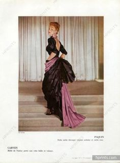 Paquin 1947 Evening gown, Pottier Fashion Photography