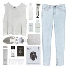 """""""Acid"""" by tamimpala ❤ liked on Polyvore featuring MINKPINK, rag & bone/JEAN, Lord & Berry, Korres, Conair, Smythson, Bobbi Brown Cosmetics, New Balance, 3.1 Phillip Lim and Seletti"""