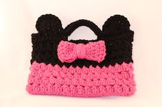 add circle ears and the bow to give a Minnie Mouse touch - might add white polkadots to bow