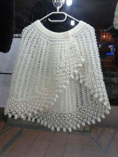 PDF Crochet Pattern- Easy Stitch Crochet Cape and Capelet Crochet Vest Pattern, Crochet Cape, Crochet Shawl, Crochet Stitches, Knitting Patterns, Double Crochet, Crochet Ideas, Free Pattern, Crochet Dresses