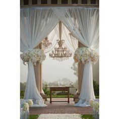 Great Gatsby Wedding Theme Inspiration  Beautiful drapes and chandeliers, amazing setting