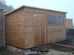 Garden Sheds Ripley deluxe apex 12x10 with door and single window under eaves