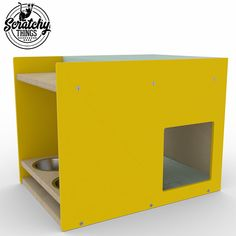 Boxy BnB Cat Feeder and bed Cat feeder Cat box Cat house